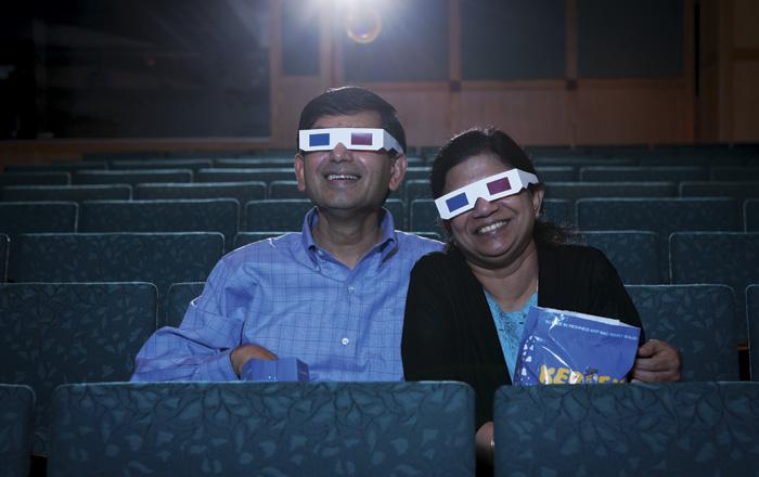 THE DOCTORS DAMARAJU : Sambu and Vijaya kick back, trading the lab for the movies.